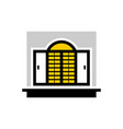 home window furniture logo vector image vector image