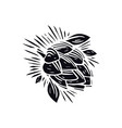 hop in linocut style vector image vector image