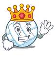 king volley ball character cartoon vector image vector image