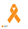 leukemia ribbon vector image vector image