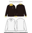 long sleeve polo shirts fashion flat technical vector image