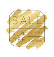 luxury sale banner design gold paint stroke vector image vector image