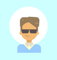 male wearing sun glasses emotion profile icon man vector image vector image