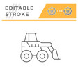 mini earth mover line icon vector image vector image