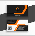 orange and white geometric business card design vector image vector image
