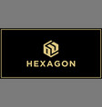 ou hexagon logo design inspiration vector image vector image