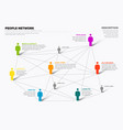 people network 3d chart vector image