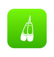pointe shoes icon digital green vector image vector image