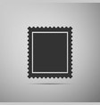 postal stamp icon isolated on grey background vector image vector image