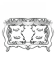 Rich Baroque Dressing Table vector image vector image