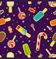 seamless pattern sweets and ice cream vector image