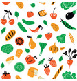 seamless pattern with healthy food organic vector image vector image