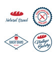 set of bakery and bread logos labels badges or vector image vector image