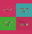 set of romantic inscriptions for cards vector image vector image