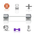 sports and game icons vector image vector image