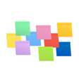 sticky colored notes post note paper stock vector image vector image