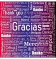 thanks in different languages design vector image