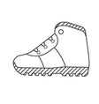 tourist hiking boots outline icon trekking shoes vector image vector image
