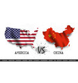 trade war united states america versus china vector image