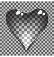transparent bubbles heart vector image vector image