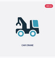 two color car crane icon from mechanicons concept vector image vector image