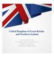 united kingdom insignia template vector image vector image
