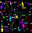 vape shop or e-cigarette store colorful vector image vector image