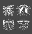 vintage gentleman logos collection vector image