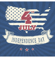 vintage styled independence day poster vector image vector image
