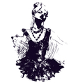 Woman dancing vector | Price: 1 Credit (USD $1)