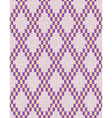 Seamless jacquard ornament texture vector image