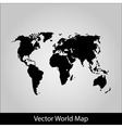 World map on grey background vector image