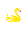a swan for a logo an image a swan for a vector image vector image