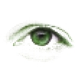 abstract human digital eye vector image vector image