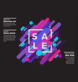 abstract sale poster made from big color lines vector image vector image