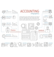 Accountant Linear Infographics vector image