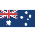 Australian flag with gears instead stars vector image vector image