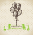 Balloons Happy Birthday hand drawn vector image vector image