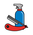 barber shop related vector image vector image