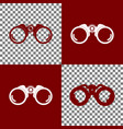 binocular sign bordo and vector image vector image