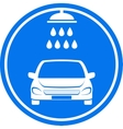 blue car wash icon vector image vector image