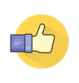 Blue thumb up icon vector image vector image