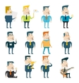 Businessman Cartoon Characters Business and vector image vector image