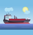 cargo ship with a cargo into the sea vector image