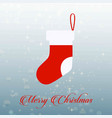 christmas card with socks vector image