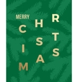 Christmas Greeting Card with Minimalistic Branch vector image vector image