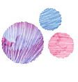 Color textured round elements for design vector image
