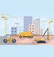 construction site landscape building process vector image vector image