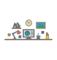 Creative designer workspace Office desk vector image vector image