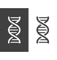 dark grey dna helix icon vector image